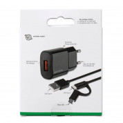 4smarts Fast Wall Charger VoltPlug QC3.0 18W with ComboCord Cable 1.5m (black) 6