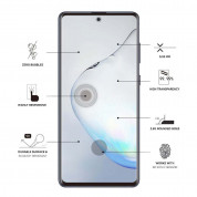 Eiger 3D Glass Edge to Edge Full Screen Tempered Glass for Samsung Galaxy Note 10 Lite (black-clear) 2