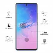 Eiger 3D Glass Edge to Edge Full Screen Tempered Glass for Samsung Galaxy S10 Lite (black-clear) 3