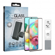 Eiger 3D Glass Edge to Edge Full Screen Tempered Glass for Samsung Galaxy A71 (black-clear)