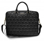 Guess Quilted Laptop Bag for laptops up to 15 inches (black)