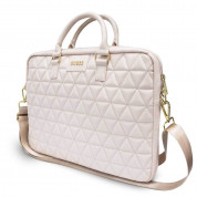 Guess Quilted Laptop Bag for laptops up to 15 inches (rose gold) 1