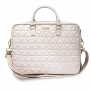 Guess Quilted Laptop Bag for laptops up to 15 inches (rose gold)