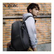 Winking Travel Backpack - елегантна и качествена раница за лаптопи до 15.6 инча (сив) 6