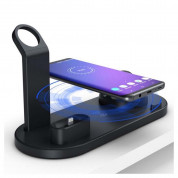 Docking Station with Lightning, USB-C, MicroUSB Ports and QI Wireless Charger UD15 10W (black)  5