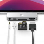 Elago USB-C Pocket Pro Hub Adapter - мултифункционален хъб за свързване на допълнителна периферия за iPad Pro и мобилни устройства (сребрист)