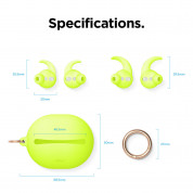 Elago Airpods Hook Cover with Carrying Pouch Case for Apple Airpods and Apple Airpods 2 (neon yellow) 8