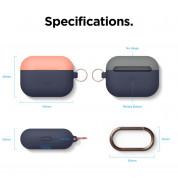 Elago Duo Hang Silicone Case - силиконов калъф с карабинер за Apple Airpods Pro (тъмносин-оранжев) 7