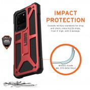 Urban Armor Gear Monarch - удароустойчив хибриден кейс за Samsung Galaxy S20 Ultra (червен) 6