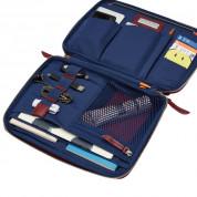 Knomo Mayfair Luxe Knomad Organiser - луксозен кожен калъф (естествена кожа) и органайзер за таблети до 10.5 инча (бургунди) 8