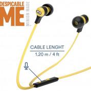 Tribe Minions Tom Swing Earphones - слушалки с микрофон и управление на звука за мобилни устройства (жълт) 2