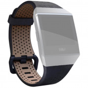 Fitbit Ionic Accessory Band Perforated Leather Large (midnight blue) 2