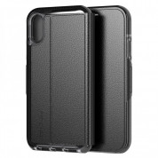 Tech21 Evo Wallet Kenley Case - кожен флип калъф с висока защита за iPhone XS, iPhone X (черен) 2