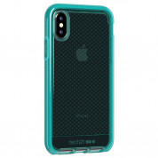 Tech21 Evo Check Case - хибриден кейс с висока защита за iPhone XS Max (син-прозрачен) 1