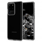 Spigen Liquid Crystal Case - тънък качествен силиконов (TPU) калъф за Samsung Galaxy S20 Ultra (прозрачен)