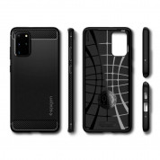 Spigen Rugged Armor Case - удароустойчив силиконов (TPU) калъф за Samsung Galaxy S20 Plus (черен) 8