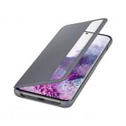 Samsung Clear View Cover EF-ZG985CJ - оригинален кейс, през който виждате информация от дисплея за Samsung Galaxy S20 Plus (сив)