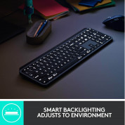 Logitech MX Keys Advanced Wireless Illuminated Keyboard - безжична клавиатура с подсветка (тъмносив)	 4