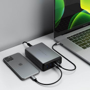 Satechi Pro 108W USB-C MultiPort PD Desktop Charger - захранване с 2xUSB-C PD изхода (90W+18), 2xUSB 3.0 изхода (сив) 4