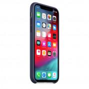 Apple Silicone Case - оригинален силиконов кейс за iPhone XS (тъмносин) (bulk) 4