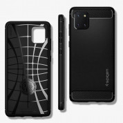 Spigen Rugged Armor Case - удароустойчив силиконов (TPU) калъф за Samsung Galaxy Note 10 Lite (черен) 3