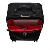 Knomo Park Land 4 Wheel Carry-On - луксозен пътнически куфар с дръжки и колелца и отделение за лаптоп до 16 инча (черен)  2