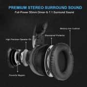 TeckNet EGH01928GA01 7.1 Channel Surround Sound Gaming Headset - геймърски слушалки с микрофон и управление на звука (сив) 3