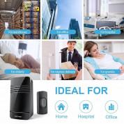 TeckNet HDB01538BA01 Wireless DoorBell - безжичен стилен звънец за входна врата (черен) 6