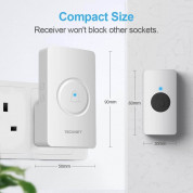 TeckNet HDB01880WU01 Wireless DoorBell White - EU 2