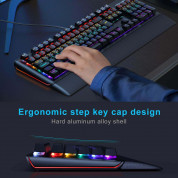 TeckNet Kumara EMK01027BK01 LED Illuminated Mechanical Gaming Keyboard - механична геймърска клавиатура с LED подсветка (за PC) 4