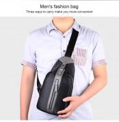 Fipilock Fingerprint Shoulder Bag 13 in. - чанта за рамо с отключване с пръстов отпечатък (черен) 6