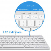 Macally Compact USB Wired Keyboard - компактна жична клавиатура за Mac и PC (бял)  5