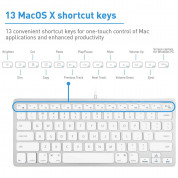 Macally Compact USB Wired Keyboard for Mac and PC (white) 4
