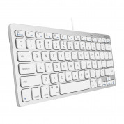 Macally Compact USB Wired Keyboard for Mac and PC (white)