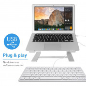 Macally Compact USB Wired Keyboard - компактна жична клавиатура за Mac и PC (бял)  7