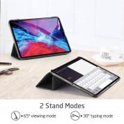 ESR Yippee Trifold Leather Case - кожен калъф с поставка и отделение за Apple Pencil 2 за iPad Pro 12.9 (2020), iPad Pro 12.9 (2018) (черен) 5