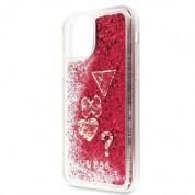Guess Glitter Hard Case - дизайнерски кейс с висока защита за iPhone 11 Pro (червен) 4
