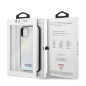 Guess Iridescent Leather Hard Case for iPhone 11 Pro Max (silver) 6