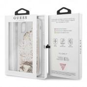 Guess Glitter Hard Case - дизайнерски кейс с висока защита за iPhone 11 Pro Max (златист) 6