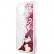 Guess Glitter Hard Case - дизайнерски кейс с висока защита за iPhone 11 Pro Max (червен) 4