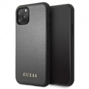 Guess Iridescent Leather Hard Case for iPhone 11 Pro Max (black)