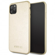 Guess Iridescent Leather Hard Case for iPhone 11 Pro Max (gold)