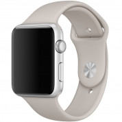 Apple Sport Band M/L - оригинална силиконова каишка за Apple Watch 38мм, 40мм (сив) (bulk)