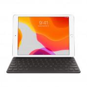 Apple Smart Keyboard INT - оригинален полиуретанов калъф, клавиатура и поставка за iPad 8 (2020), iPad 7 (2019), iPad Air 3 (2019), iPad Pro 10.5 (2017) (черен)