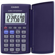 Casio HL820VER Pocket Calculator with Euro Conversion (blue)