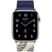 Apple Watch Hermès Series 5, 44mm Encre/Béton Stainless Steel Case with Single Tour, GPS + Cellular - умен часовник от Apple