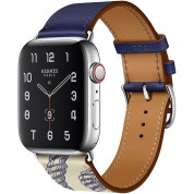 Apple Watch Hermès Series 5, 44mm Encre/Béton Stainless Steel Case with Single Tour, GPS + Cellular - умен часовник от Apple 1
