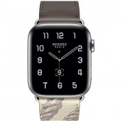 Apple Watch Hermès Series 5, 44mm Étain/Béton Stainless Steel Case with Single Tour, GPS + Cellular - умен часовник от Apple