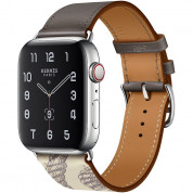 Apple Watch Hermès Series 5, 44mm Étain/Béton Stainless Steel Case with Single Tour, GPS + Cellular - умен часовник от Apple 1