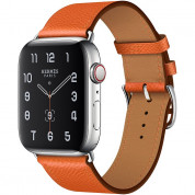 Apple Watch Hermès Series 5, 44mm Feu Stainless Steel Case with Single Tour, GPS + Cellular - умен часовник от Apple 1